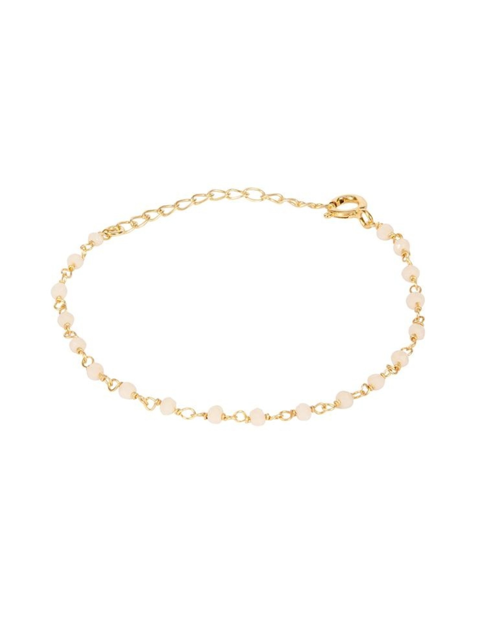 Armband Little Stones 925 Silber vergoldet chalcedon