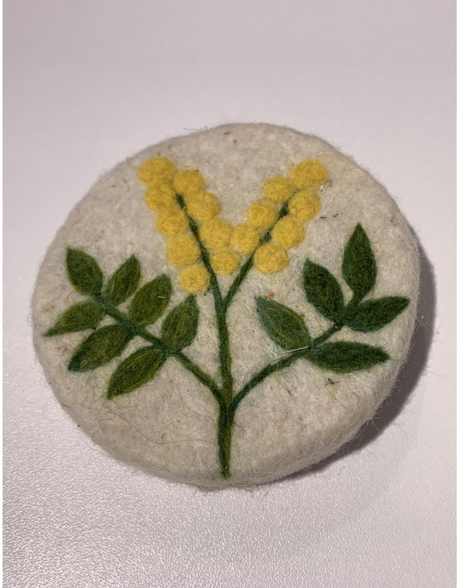 Filzseife gelbe Äre 100% Wollfilz Handmade