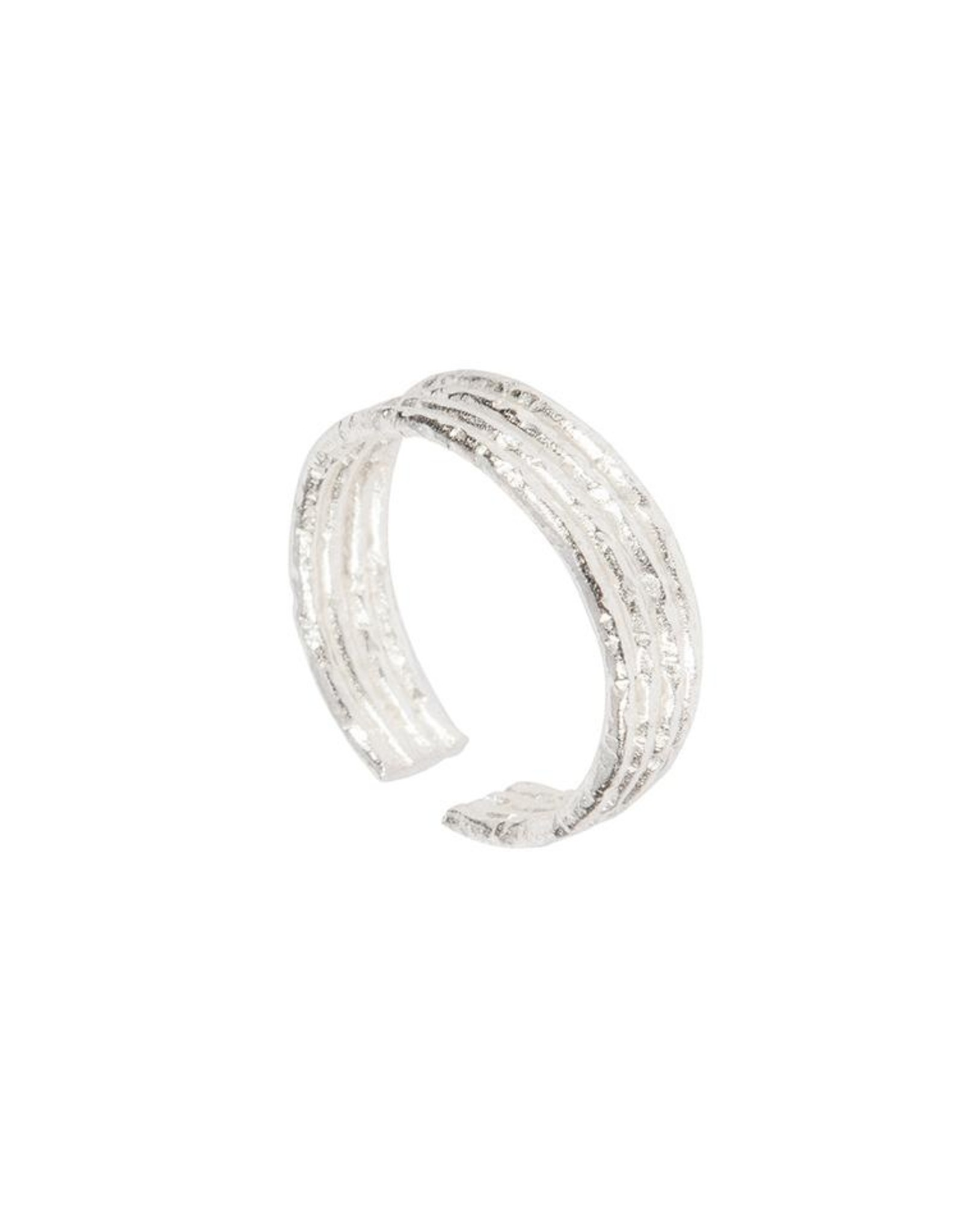 Ring Four Lines Adjustable silber