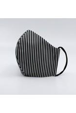 Steffisburg 3Lagig schwarz/weissStreifen 100% Baumwolle