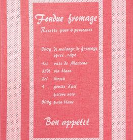 Rigotex Geschirrtuch Fondue rot franz.