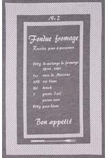 Rigotex Geschirrtuch Fondue schwarz franz. 100%BW.Zwirn