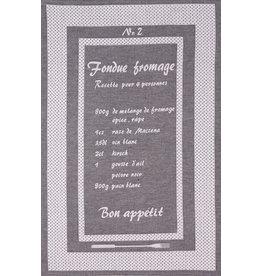 Rigotex Geschirrtuch Fondue schwarz franz.