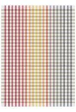 Rigotex Küchentuch Multicolor rot Halbleinen