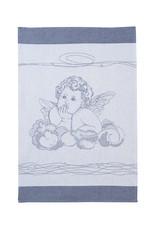 Rigotex Küchentuch Engel auf Wolken marine 100% Baumwolle