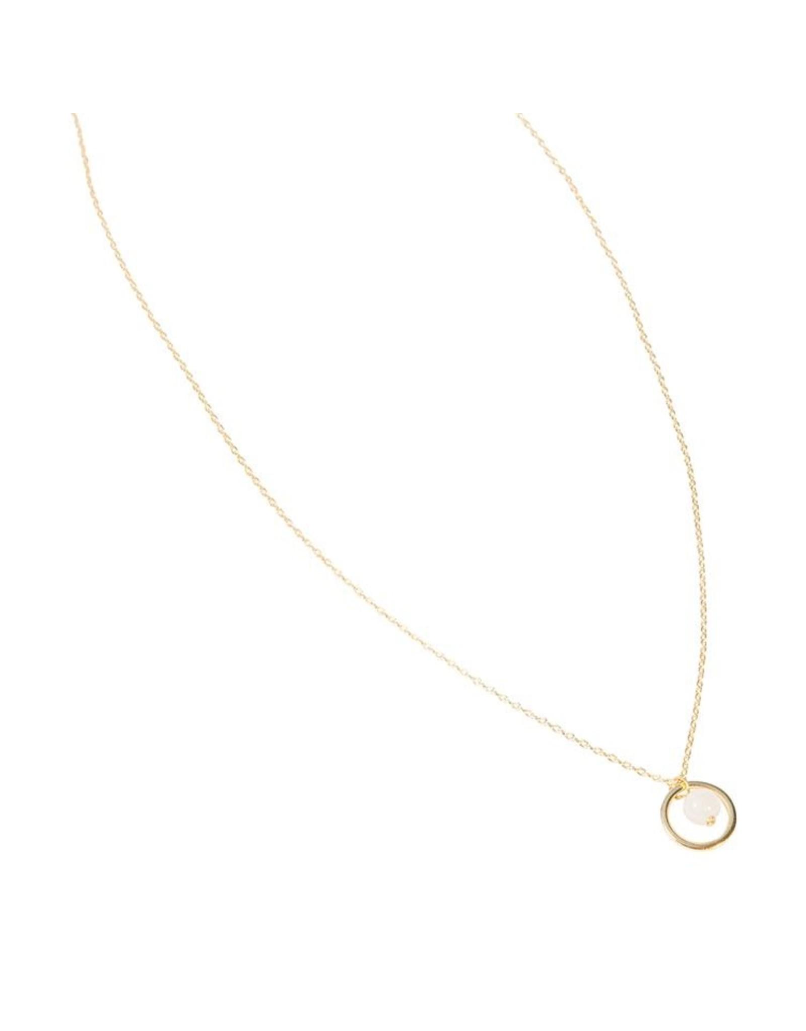 Halskette Circled Ball 925 Silber vergoldet