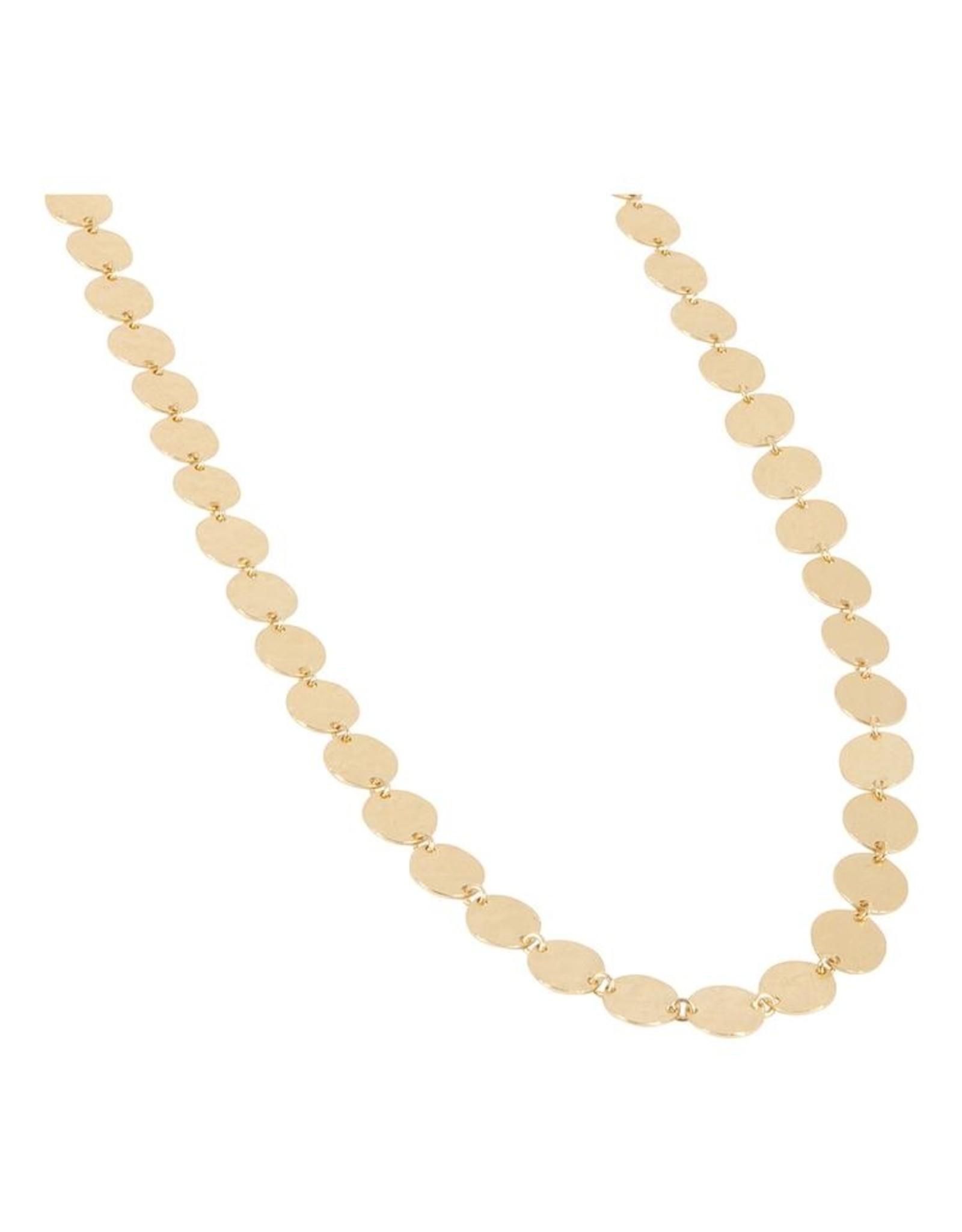 Halskette Disc 925 Silber vergoldet