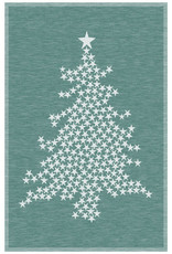Rigotex Küchentuch Weihnachtsbaum dunkelgrün Halbleinenzwirn