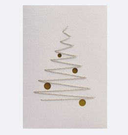 InclusioPlus Weihnachtstanne gold Karte