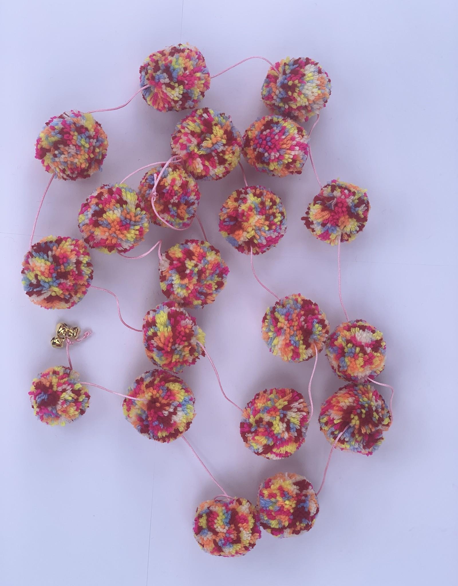 Girlande Pom Pom mix Wolle