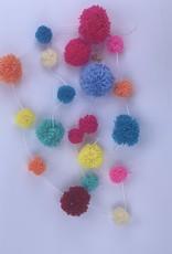 Girlande Pom Pom mix verschiedene Grössen Wolle