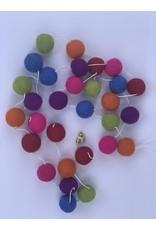 sense&purpose Filz Girlande Rainbow Rot/Grün/Orange 100% Wolle