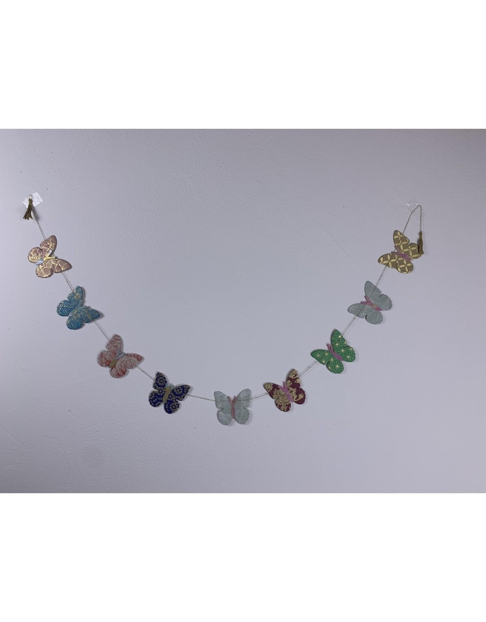 sense&purpose Girlande Happy Schmetterling klein Handgeschöpftes Papier