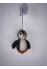 sense&purpose Filz Pinguin grau 100% Wolle gefilzt
