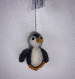 Filz Pinguin grau