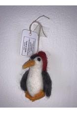 sense&purpose Filz Pinguin rot 100% Wolle gefilzt