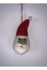 sense&purpose Filz Weihnachtskugel Weihnachtsmann 100% Wolle gefilzt