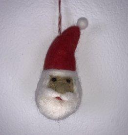 Filz Weihnachtskugel Weihnachtsmann