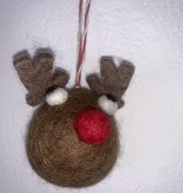 Filz Weihnachtskugel Rentier
