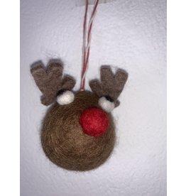 sense&purpose Filz Weihnachtskugel Rentier
