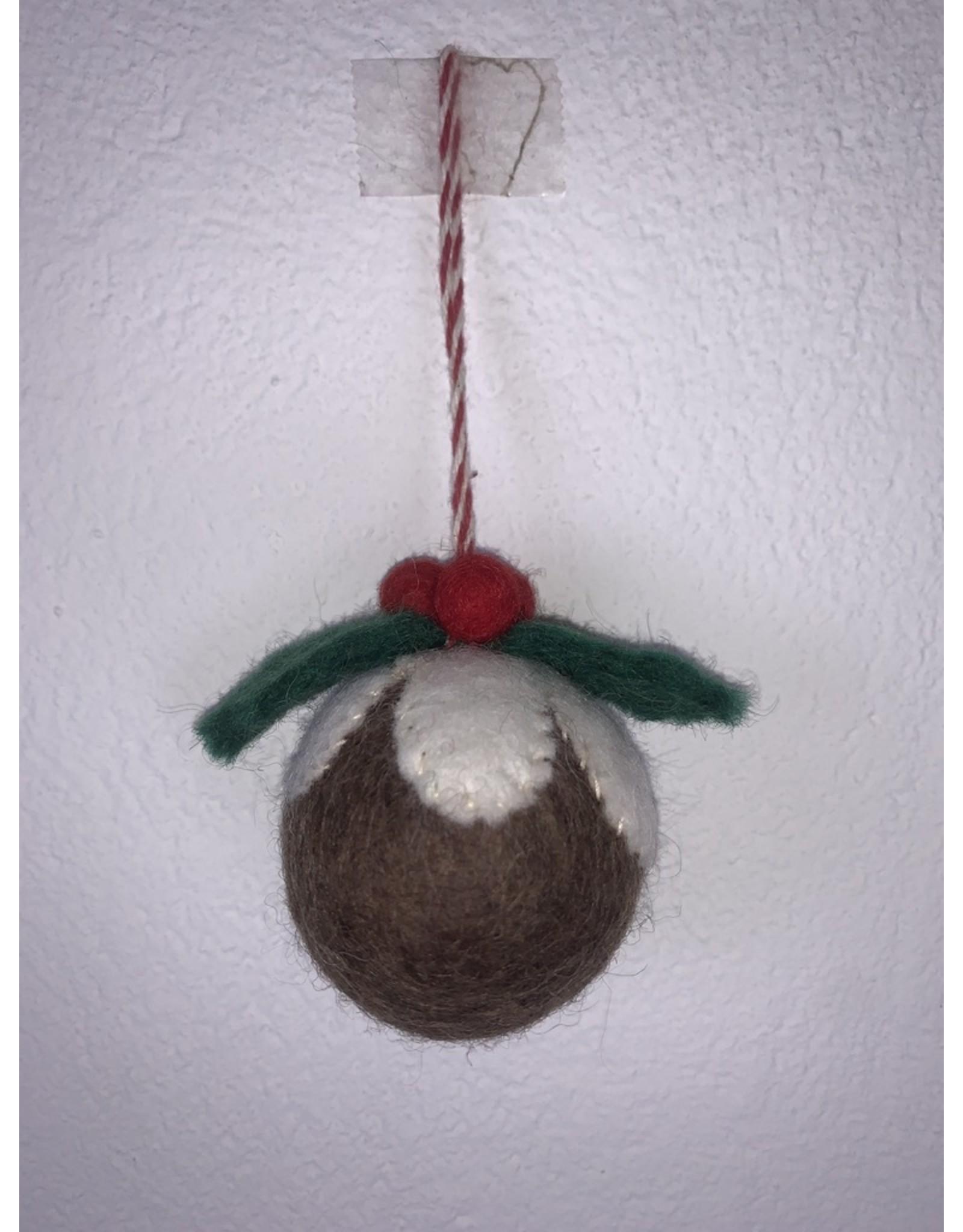 sense&purpose Filz Weihnachtskugel 100% Wolle gefilzt