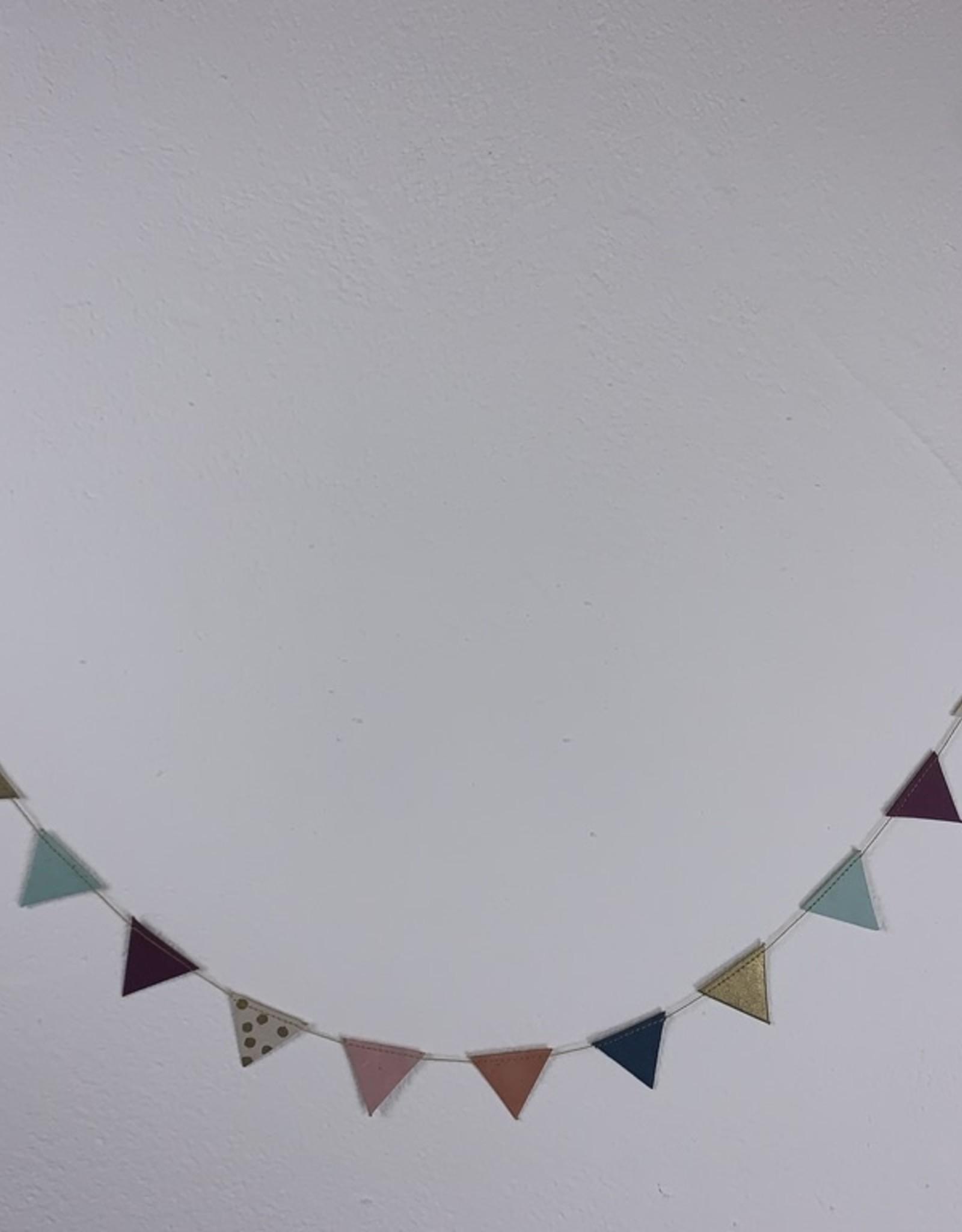 Girlande Dreieck klein Handgeschöpftes Papier