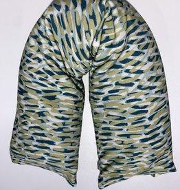 Nackenrolle Wuzi grün Muster waschbar