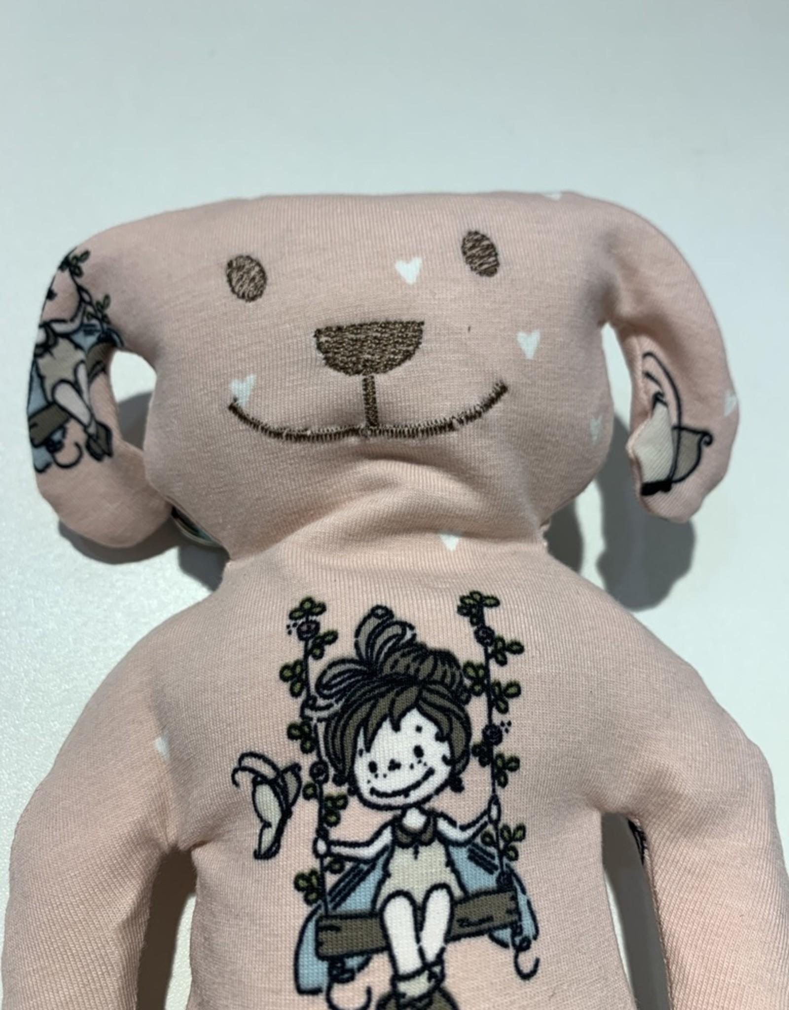Hund Canis schaukelndes Mädchen waschbar 95% Bio Baumwolle 5% Elasthan