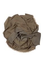 Kaschmirschal Kamala khaki/grau 75%Kaschmir 25%Wolle