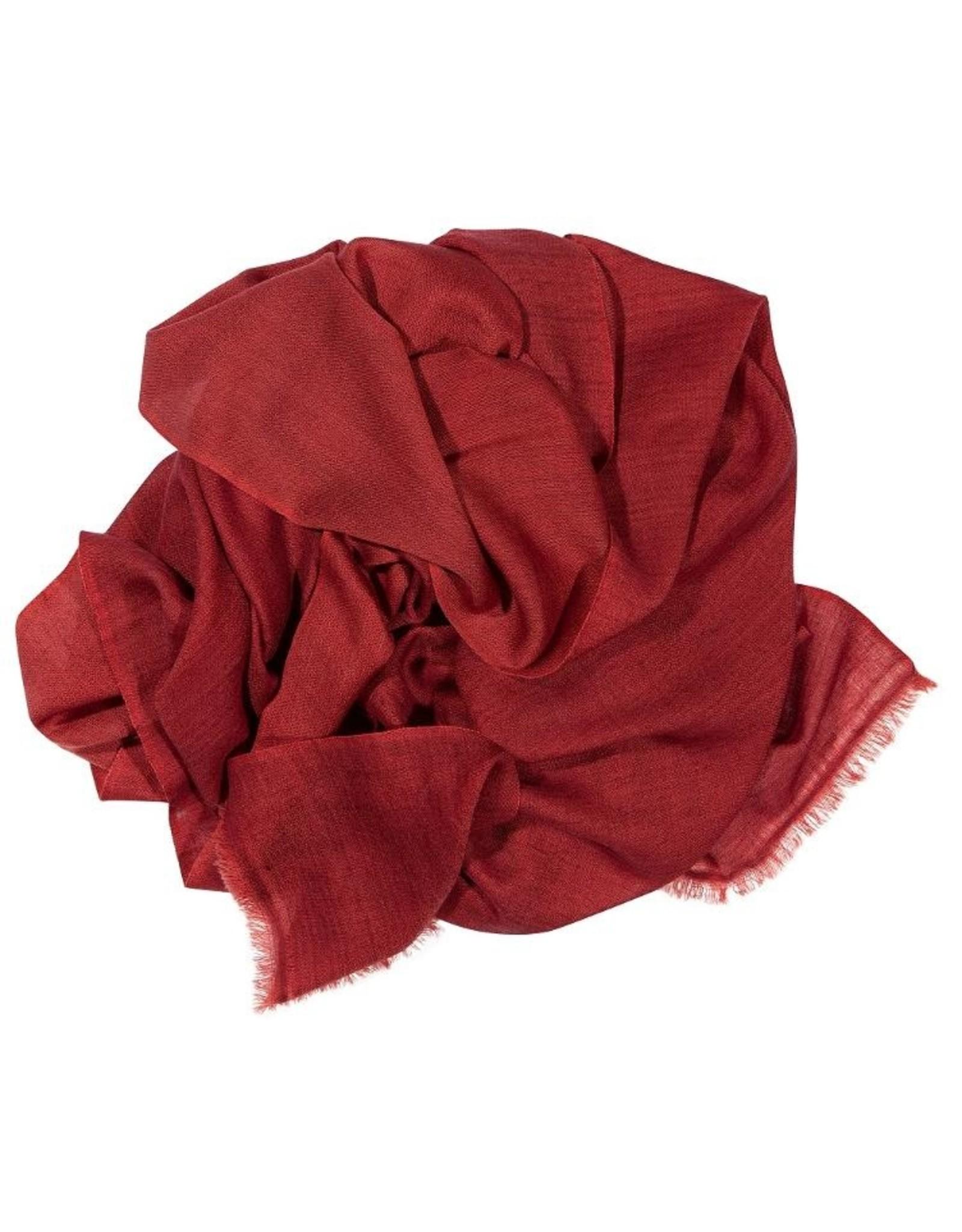 Kaschmirschal Kamala rosa/rot 75%Kaschmir 25%Wolle