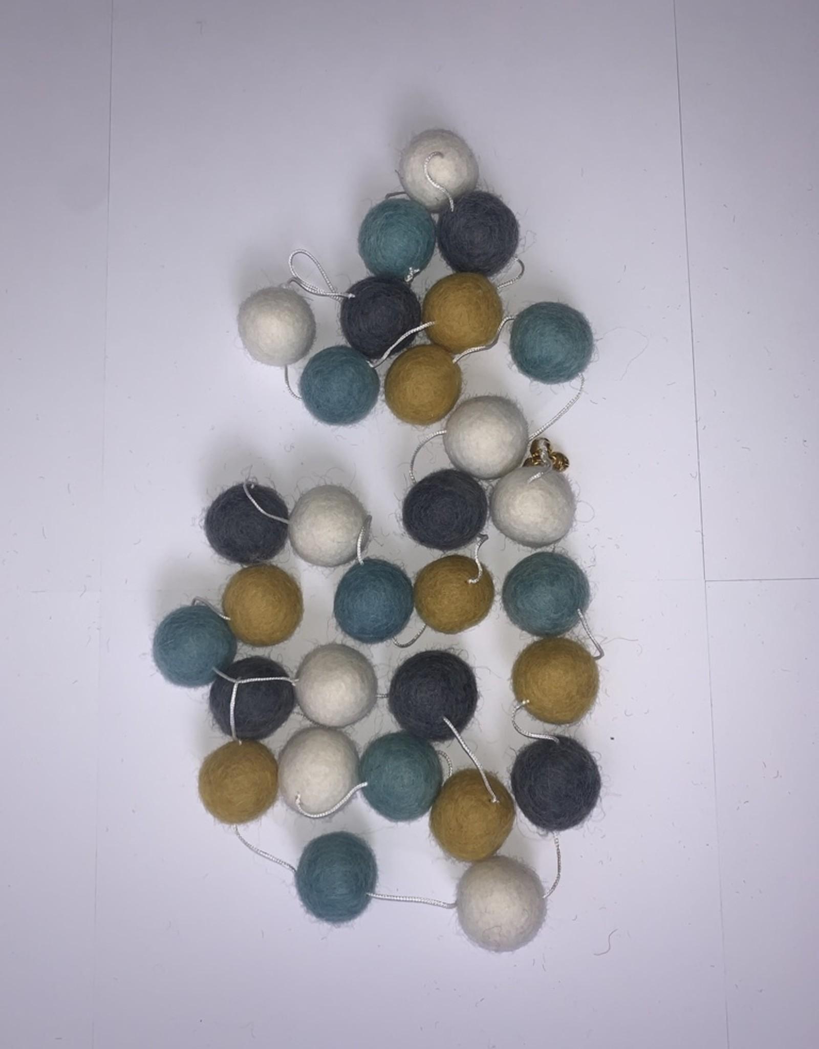 Filz Girlande Blue Grey 100% Wolle