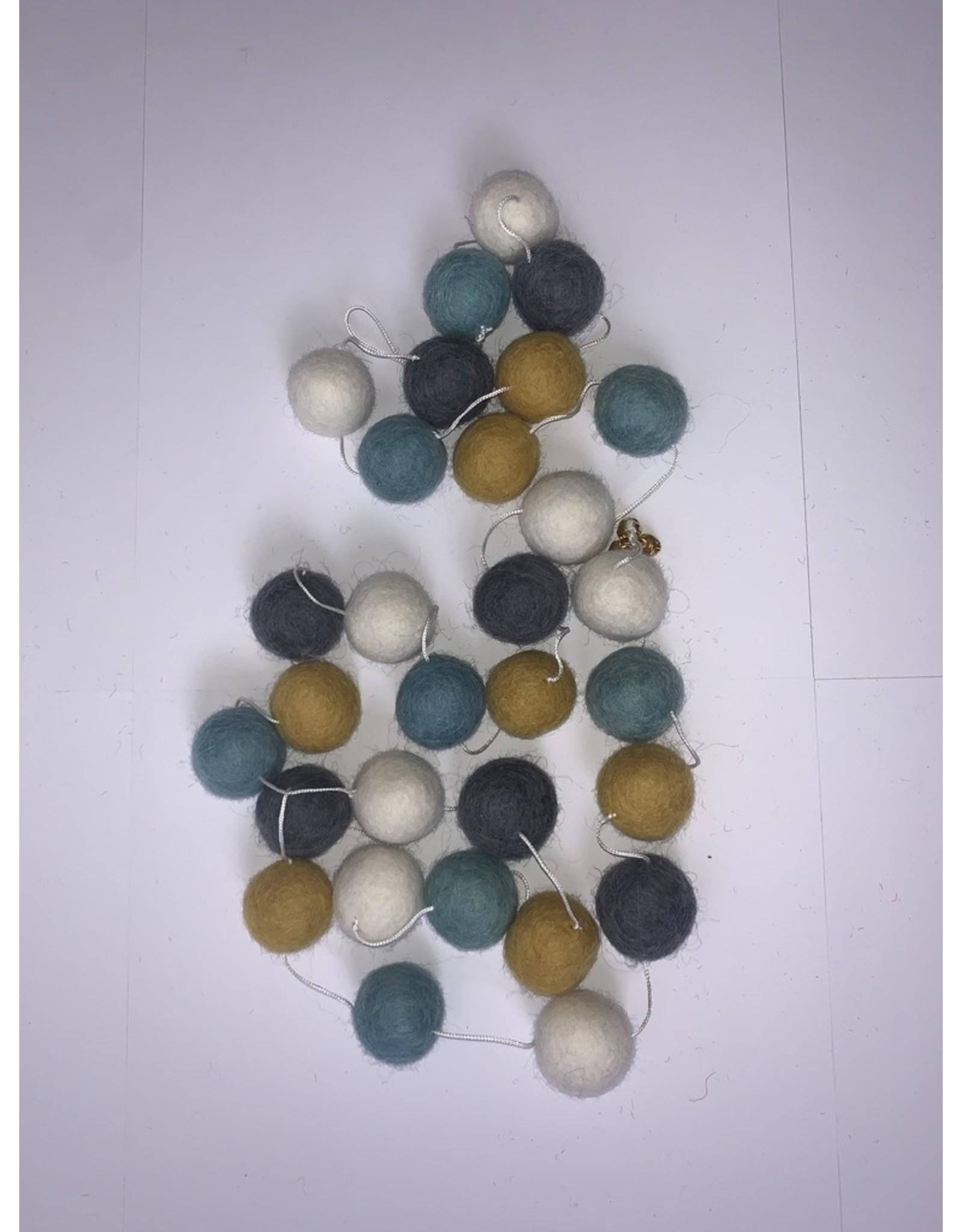 sense&purpose Filz Girlande Blue Grey 100% Wolle