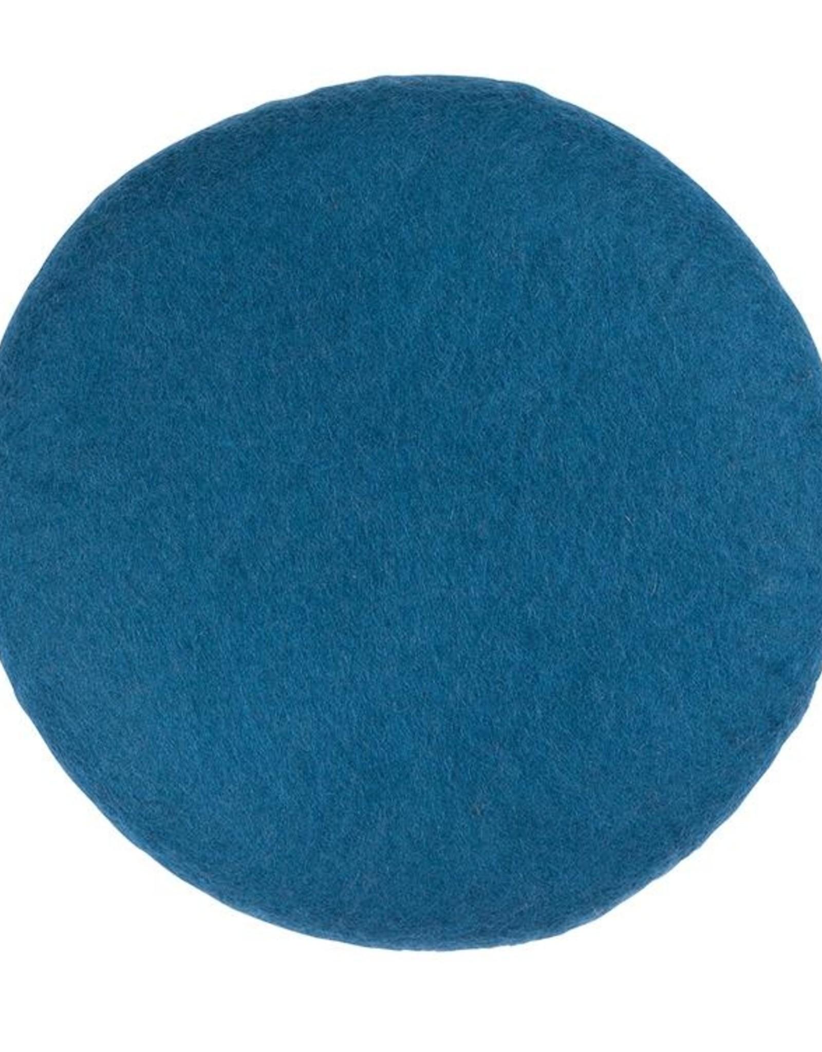 Filz Sitzkissen d-blau 100%Wolle gefilzt