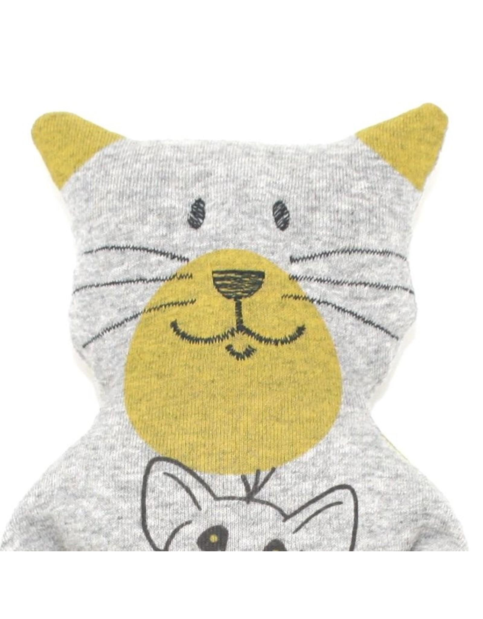 Katze Felis Maus waschbar 95% Bio Baumwolle 5% Elasthan