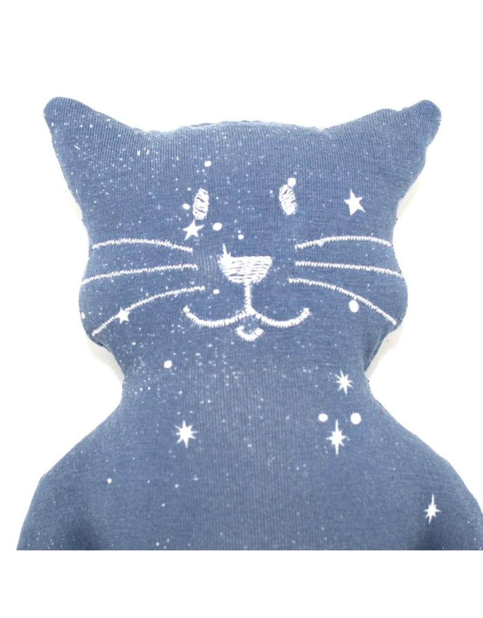 Katze Felis Sternenhimmel waschbar 95% Bio Baumwolle 5% Elasthan