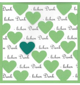 "Stiftung Alpenruhe Schreibkarte ""Herzlichen Dank, grün"""