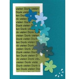 """Stiftung Alpenruhe Schreibkarte """"Vielen Dank, türkis"""""""