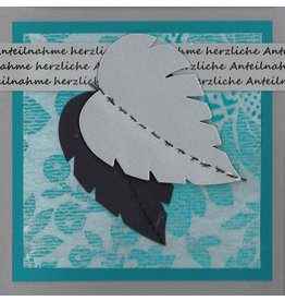 "Stiftung Alpenruhe Schreibkarte ""Herzliche Anteilnahme, grau"""