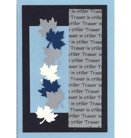 """Stiftung Alpenruhe Schreibkarte """"Stille Trauer, blau"""""""