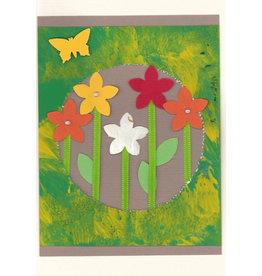 """Stiftung Alpenruhe Schreibkarte """"Blumenfenster, grün"""""""