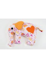 Stiftung Alpenruhe Elefant gross Rosa Baumwolle/Wattenfüllung