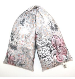 Nackenrolle Wuzi graue Blumen waschbar