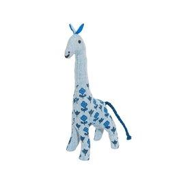 Giraffe Blockprint blau