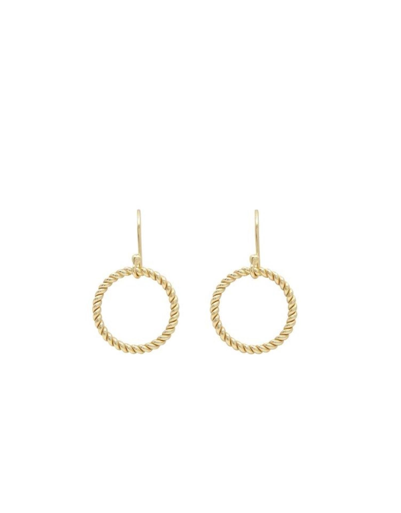 Ohrringe Twisted Circle 925 Silber vergoldet