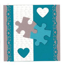 Stiftung Alpenruhe Schreibkarte Liebes Puzzle