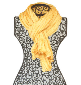 Alchemilla Crinkle Schal Nr. 14, Goldgelb Kamala