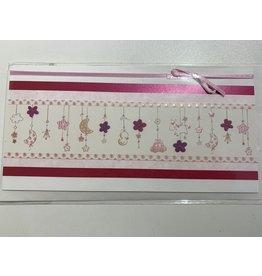 ARBES Karte Mädchen rosa