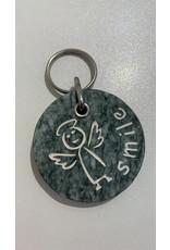 ARBES Schutzengel Schlüsselanhänger smile Stein