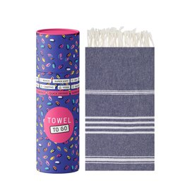 Towel to Go Hamamtuch Ipanema dunkelblau