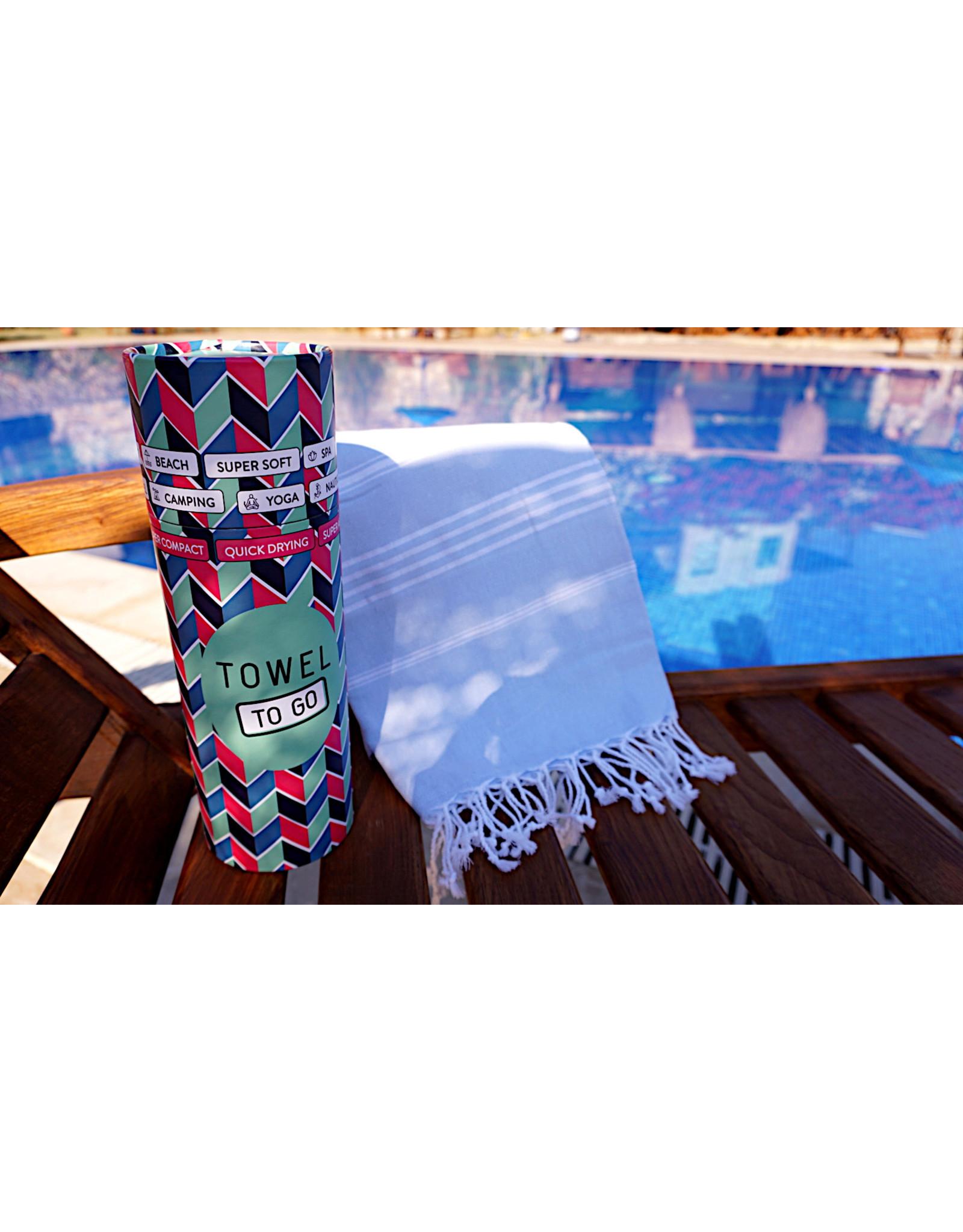 Towel to Go Hamamtuch Ipanema hellblau 100% Baumwolle